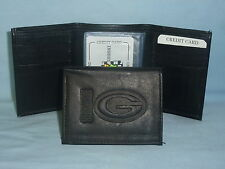 GREEN BAY PACKERS    Leather TriFold Wallet    NEW    black 3