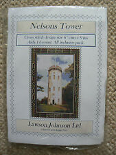 Lawson johnson ltd cross stitch nelson tower design 6.5 ins x 9 ins.