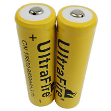 2X 18650 9800mAh Li-ion 3.7V Rechargeable Battery For UltraFire Flashlight Torch