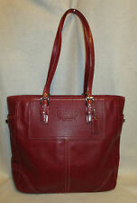 Large Red COACH Leather Tote - Briefcase - Market Shopper - Excellent Condition