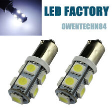 2X WHITE BA9S 257 5050 9 SMD LED W5W Car Indicator DOME Light Bulbs Lamps #O2B1