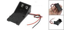 2 Stueck Schwarzer Kunststoff 9V Batterie Halter mit Anschlussdraehten GY