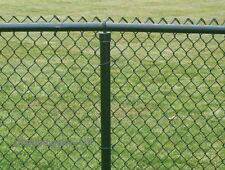 Green PVC Plastic Coated Chain Link Steel Mesh Fencing 1.2m x 10m Top Choice738