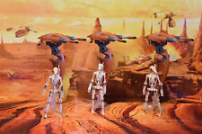 STAR WARS VEHICLE 2012 MISSION SERIES STAP BATTLE DROID COLLECTION X3