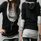 Women Long Hoodie Blouse Tops Jumper Coat Jacket Sweater Sweatshirt UK Size 8-26