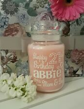 Personalised Sticker Label Candle 18th 21st 30th 40th 50th 60th Birthday Present