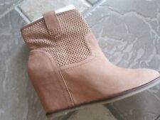 NEW LUCKY BRAND KENO TAN ANKLE BOOTS BOOTIES WOMENS 9.5 LEATHER FREE SHIP