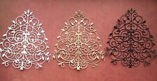 christmas tree die cuts filigree card toppers x 6 Large