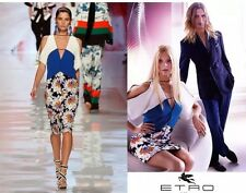 NEW $4440 SEXY! ETRO RUNWAY COLLECTION FLORAL COLOR BLOCK DRESS 44 - 8