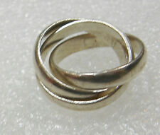 STERLING SILVER RUSSIAN WEDDING RING 3 RINGS IN ONE SIZE 6 N410-Y
