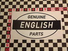 Ed Roth Style British Parts Sticker - MG Jaguar Austin Morris Riley Mini Cooper
