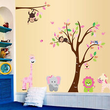 Jungle Animals Removable Decal Kids Baby Nursery Bedroom Decor Wall Sticker Art