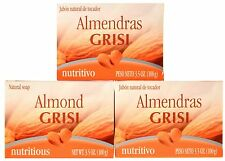 CLEAN SOFTENS MOISTURIZES LATHER WITH A 3 PACK OF GRISI ALMOND SOAP ALMENDRA