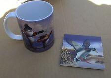 New Boxed Coffee Cup Mug & Coaster Gift Set Water Birds Mallards by Counter Art