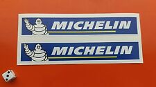 MICHELIN Racing Car Superbike Stickers  PAIR 200mm X 35MM 7-10 year vinyl