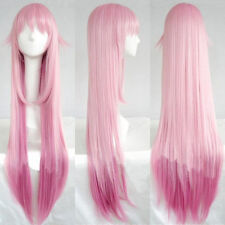 Anime K Project Neko 100cm Long Straight Light Pink Ombre Cosplay Hair Wig E144