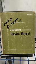 1969 1970 GM ALLISON AUTOMATIC TRANSMISSIONS AT SERIES SHOP SERVICE MANUAL