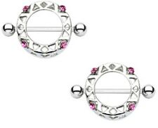 Body Accentz Nipple Ring Aztec bar body Jewelry Pair Sold as pair
