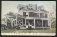 Postcard EAST BERNE New York/NY   Warner Lake View Tourist Cottage 1907