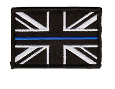 Thin Blue Line - Police - Union Jack Velcro backed patch ( UK Badge insignia