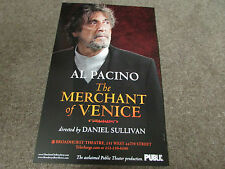 Al Pacino the MERCHANT of Venice Original BROADWAY US / American Theatre Poster