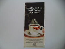 advertising Pubblicità 1970 CAFFE' CAFE' PAULISTA