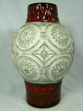 "Unusual shaped / formschöne 70´s WGP Bay Keramik "" relief "" pottery vase  62  25"
