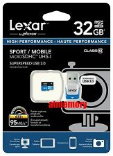 Lexar 32GB 32G 633x 95MB/s Micro SD SDXC Class10 UHS-I USB3.0 Card Reader GoPro