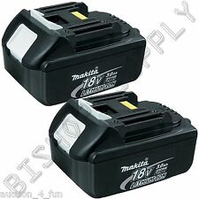 2pc Genuine Makita BL1830 18V LXT Lithium-Ion Battery Pack 3.0Ah NEW 2015 Date