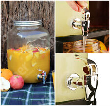 GRANDE 8l Mason Jar BIBITE DISPENSER CARAFFA Cocktail Punch alla frutta infusore con rubinetto UK
