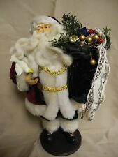 "TJ MITCHELL 12"" VINTAGE SANTA WITH MUSIC"