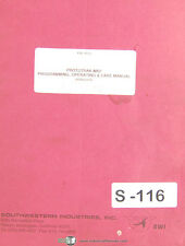 Southwestern Industries TRAK MX2, Milling Programming & Operations Manual 1994
