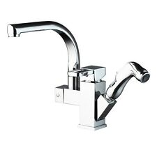 NEW Brass Kitchen Faucet Sink Mixer Tap With Pull Out Spray Swivel Spout Chrome