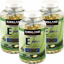 New ! 3 X 500 Softgels Kirkland Signature Vitamin E 400 IU 98211 L125
