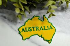 AUSTRALIA Map World Country DOWN UNDER Transfer Patch Patches Iron On Badge