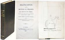 PRINCIPES POUR MONTER ET DRESSER LES CHEVAUX DE GUERRE, Baron de BOHAN. 1821
