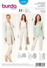 BURDA SEWING PATTERN LADIES TROUSER SUITES JACKET 8 -20 6898