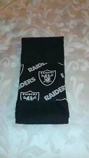 Oakland Raiders Hand Towel Handmade  GREAT GIFT