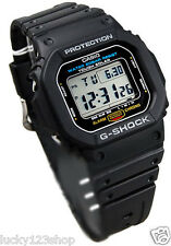 G-5600E-1D Black Casio Men's Watches Resin Band 200m Digital Tough Solar New