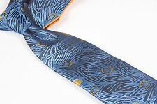 VERSE 9 MULTI COLOR PEACOCK FEATHER STYLE PRINT NECK TIE HANKIE SET NEW !