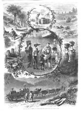 Schwarzwald, Kirschwasser, Schnaps, Holzstich von 1859