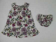 CHILDRENS PLACE BABY GIRLS BEIGE FLORAL DRESS & BLOOMERS SET 18-24 MONTHS EUC