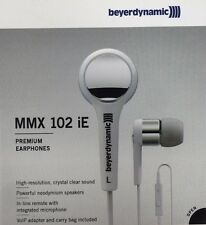 Beyerdynamic MMX 102 iE White Stereo Earbuds SKYPE Headset with VoIP Adapter