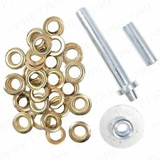 33Pc Tarpaulin/Awning  +REPAIR KIT+Quick & Easy Eyelets/Grommets Hole Fixer Tool