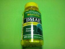 DMAE 100 mg. 100 capsulas PURITAN´S PRIDE potenciador concentración mental