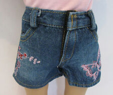 """Butterfly print Denim Jean shorts  - FITS AMERICAN GIRL & OTHER 18"""" DOLLS"""