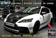 Stripes Fits Most Cars Like Lexus Toyota Honda Chevy Ford Nissan GMC Dodge &more