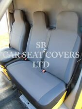 TO FIT A RENAULT MASTER VAN, 2011, SEAT COVERS, RACK BLACK SINGLE + DOUBLE