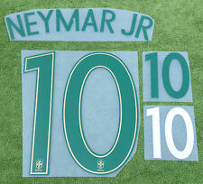 Neymar JR 10 Brazil 2016 Home Football Shirt Print Kit Name Number Set Transfer