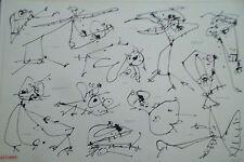 Antonio SAURA (1930-1998) lithographie Surréalisme, Abstraction lyrique P1253XL